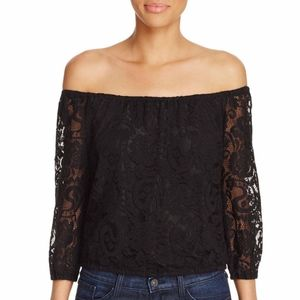 Cupcake & Cashmere Karla Off-the-shoulder Lace Top